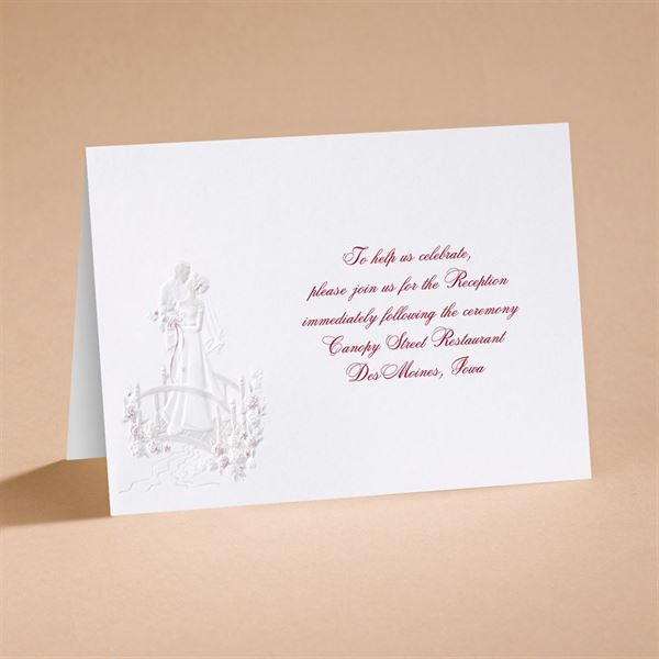 """Love""""s Journey with Accents - Reception Card"""