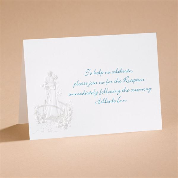 """Love""""s Journey with Pearl Accents - Reception Card"""