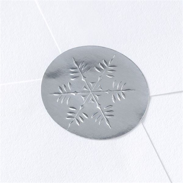 Blank Silver Snowflake Wedding Seal