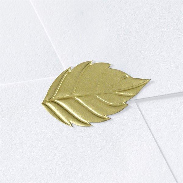 Blank Gold Leaf Seal