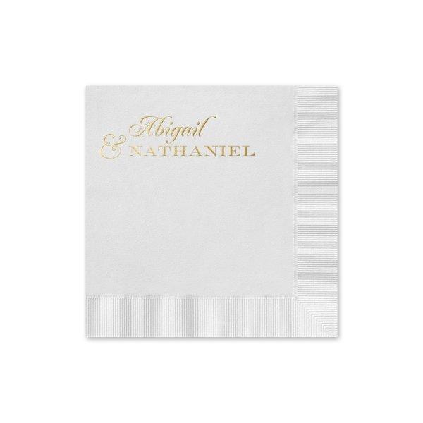 Beautiful Names - White - Foil Cocktail Napkin