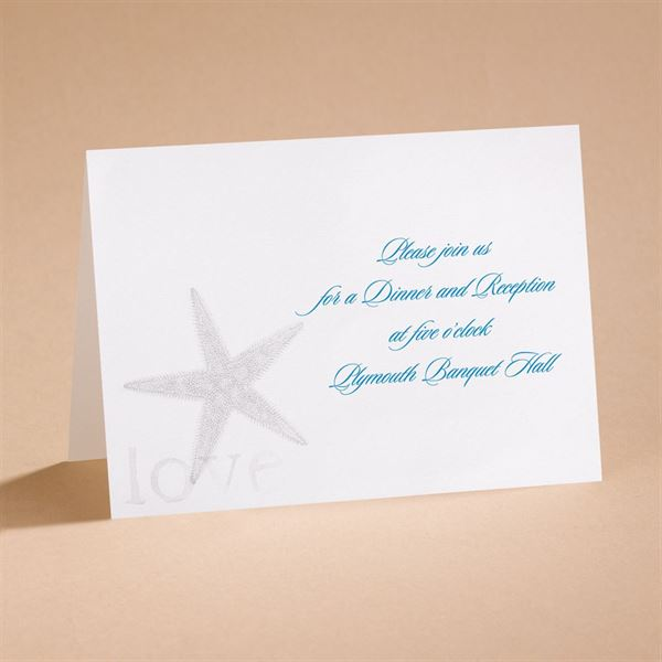 By the Seashore Reception Card