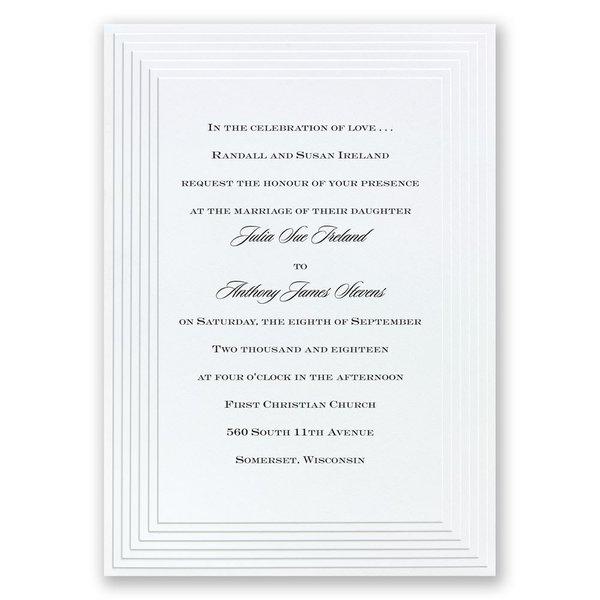 Timeless - White Invitation
