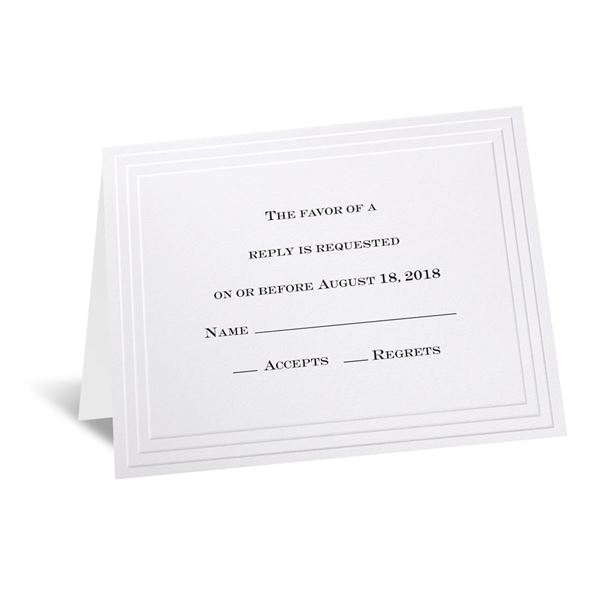 Timeless - Response Card and Envelope