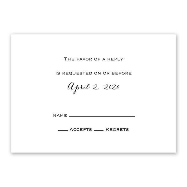 White Response Card
