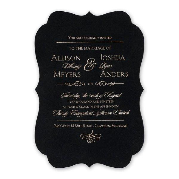 Contoured Elegance - Black - Invitation