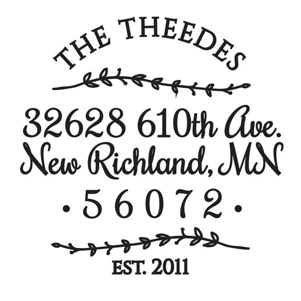 Flowing Vines Address Stamp