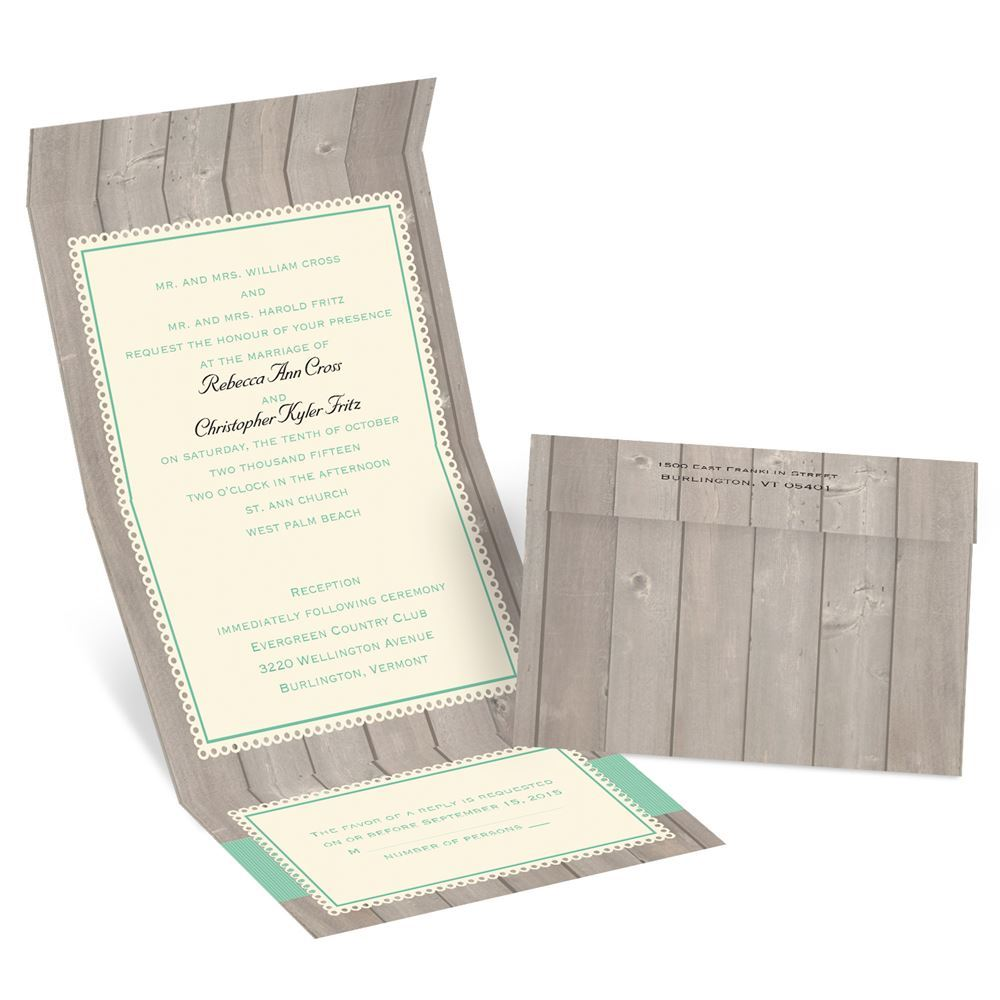 Unique handmade custom luxury wedding invitations with bluegrass and country theme