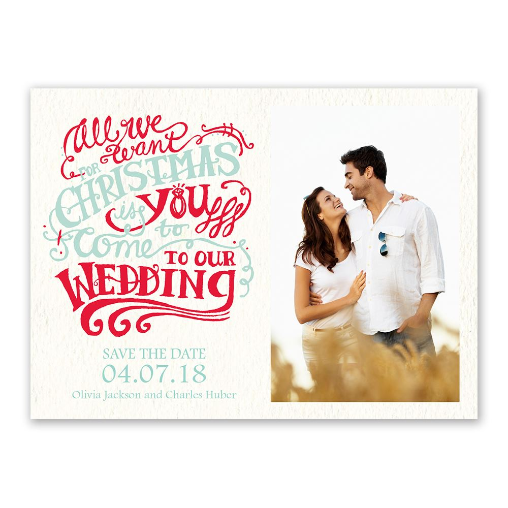 christmas wish holiday card save the date  invitations