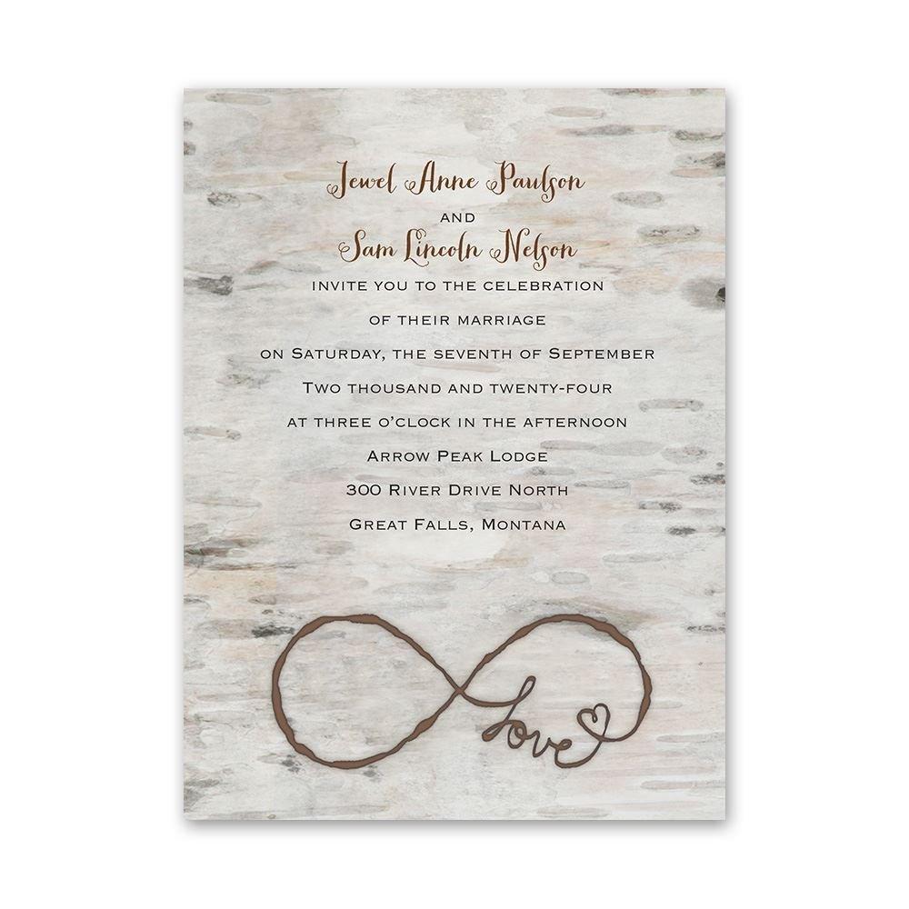 Love For Infinity Pee Invitation