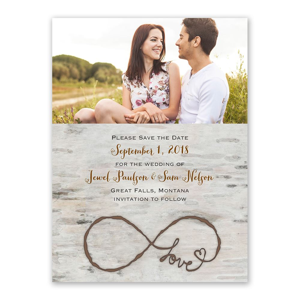 Love For Infinity Save The Date Card Invitations By Dawn