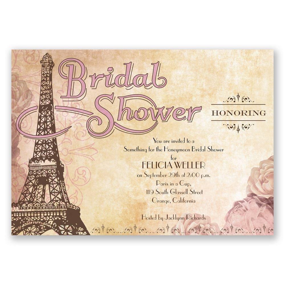 Eiffel Tower Bridal Shower Invitation