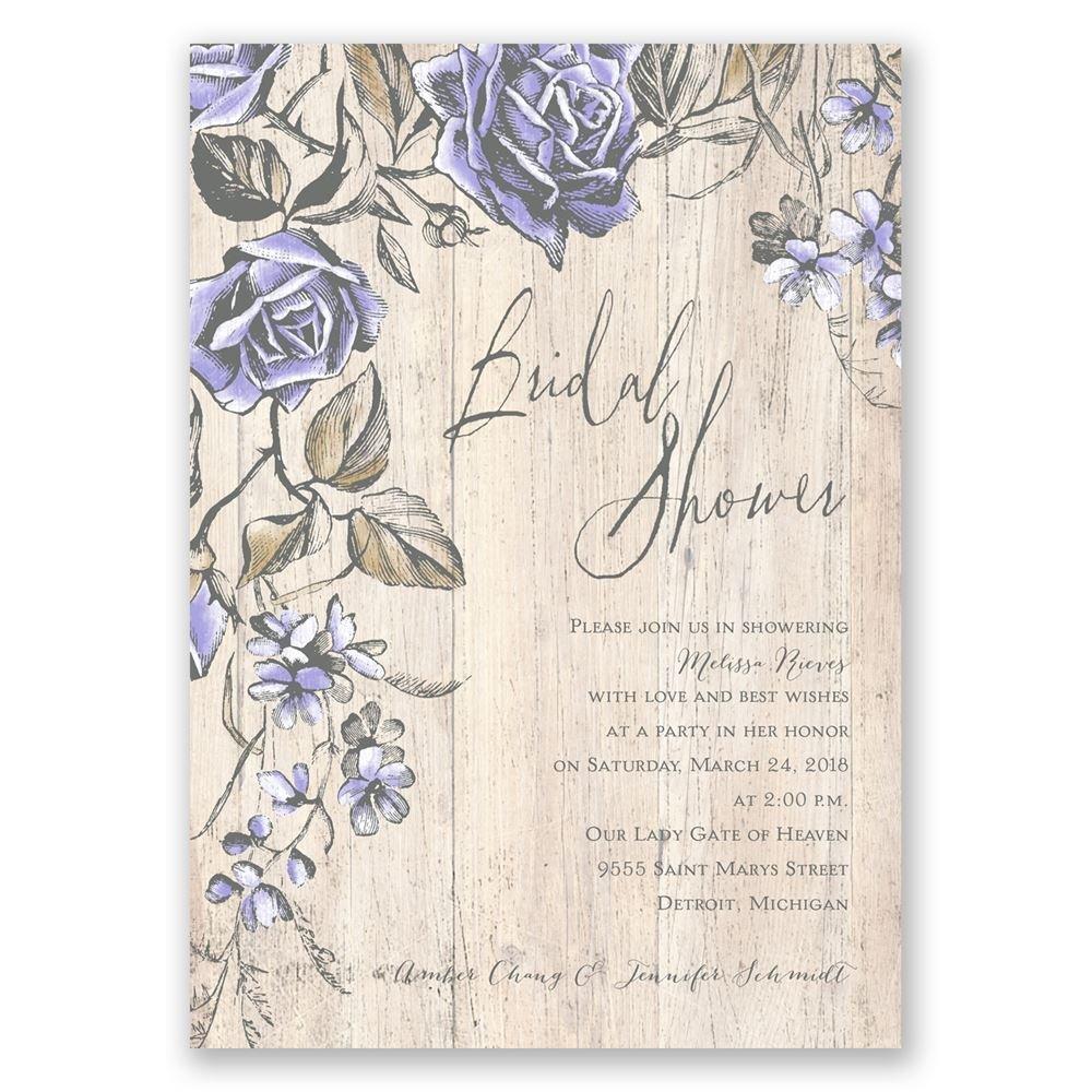 Rustic Rose Bridal Shower Invitation