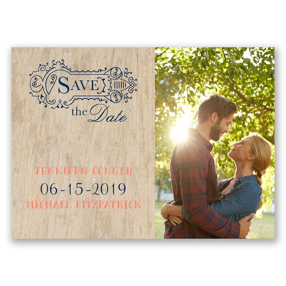 Choose Your Design Rustic Save The Date Postcard