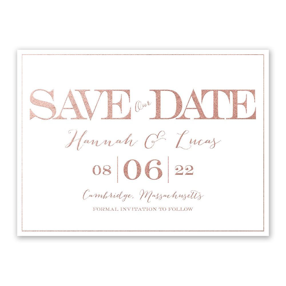 Fall in Love Photo Save The Date Card  AA4722