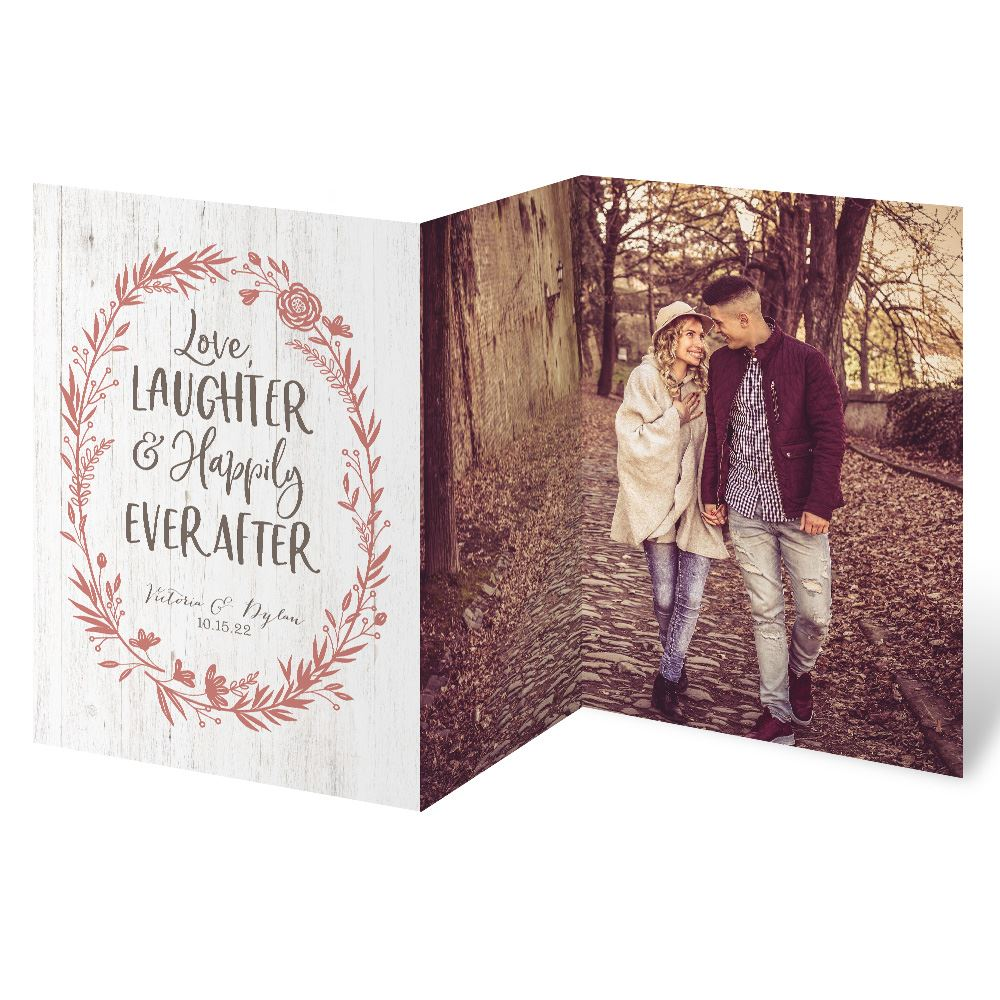 Love and Laughter Trifold Invitation | Invitations By Dawn