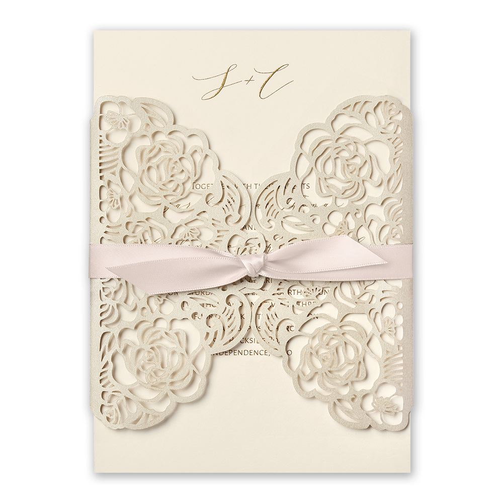 Bed Of Roses Laser Cut Invitation Invitations By Dawn