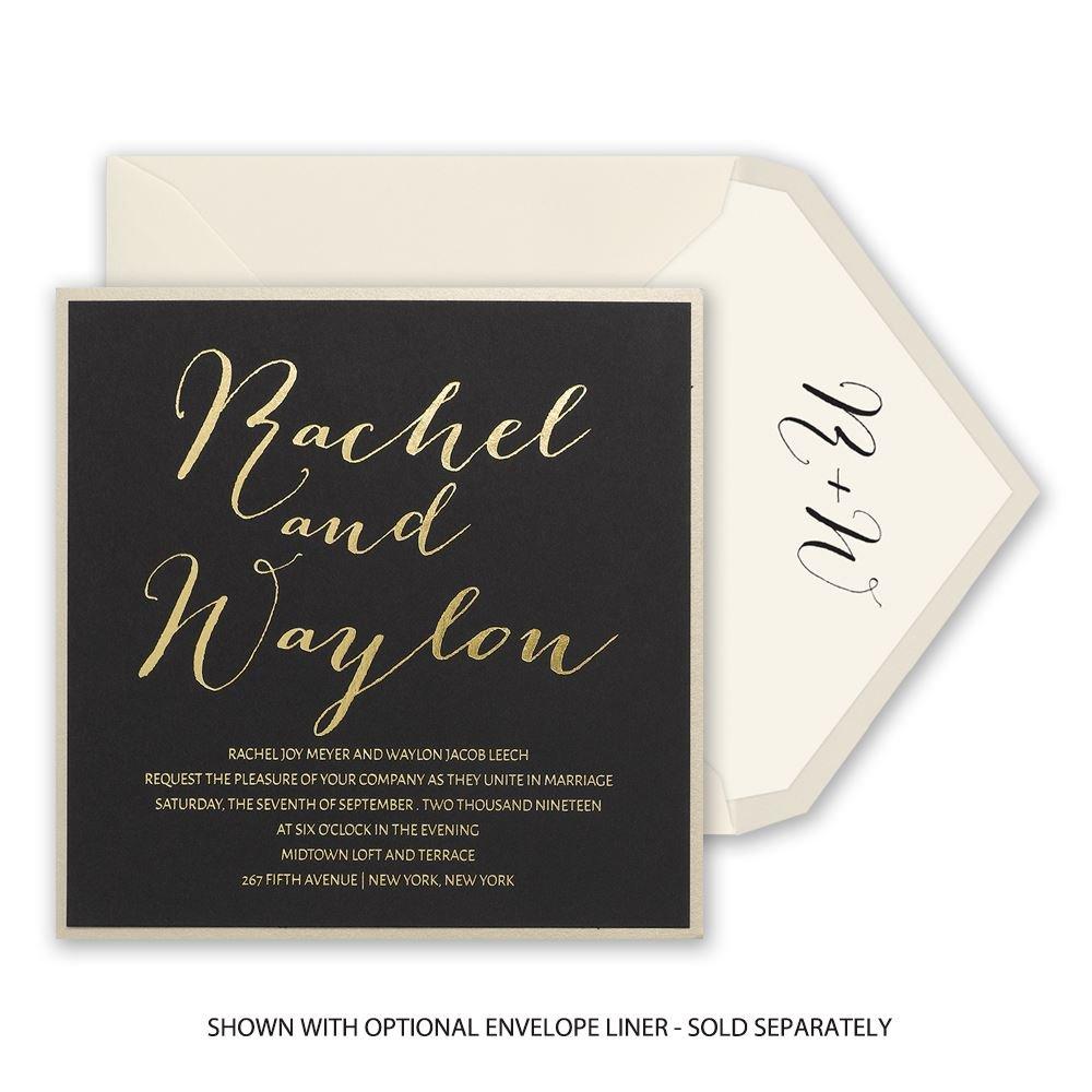 Gold Signature Foil Invitation