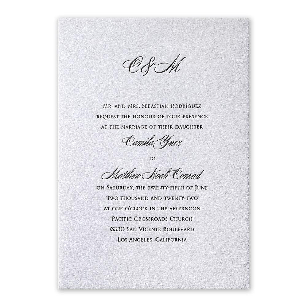 Pure Sophistication Letterpress